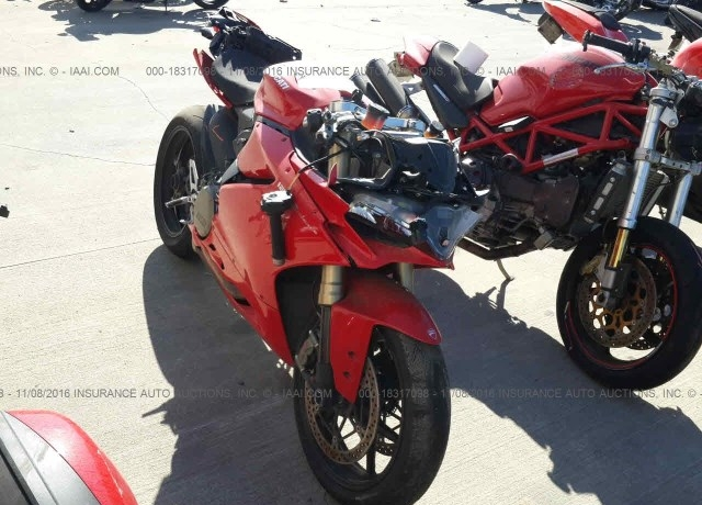 Salvage Cars For Sale 2016 Ducati Superbike
