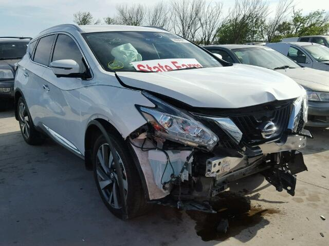 Nissan Salvage For Sale Repairable Cars At Auction Prices: Salvage Cars For Sale: 2016 NISSAN MURANO